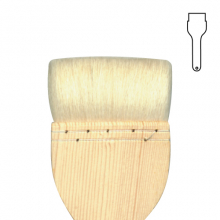 Hake Brush 1inch BH0101 - Goat Hair