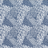 Japanese Tissue Transfer Mosaic (Blue) Half Sheet