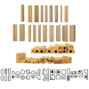 Wooden Stamps Set - Geometric Shapes (19 Double-Sided Stamps)