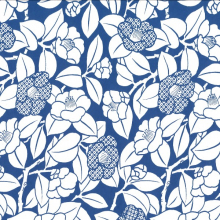 Japanese Tissue Transfer Camelia (Blue)