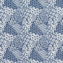 Japanese Tissue Transfer Mosaic (Blue) Full Sheet