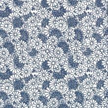 Japanese Tissue Transfer Chrysanthemum (Blue) Full Sheet